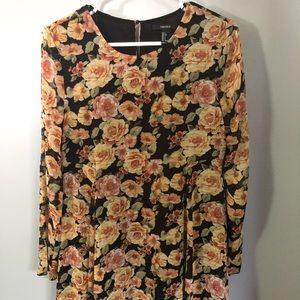 Floral fall long sleeves dress blouse